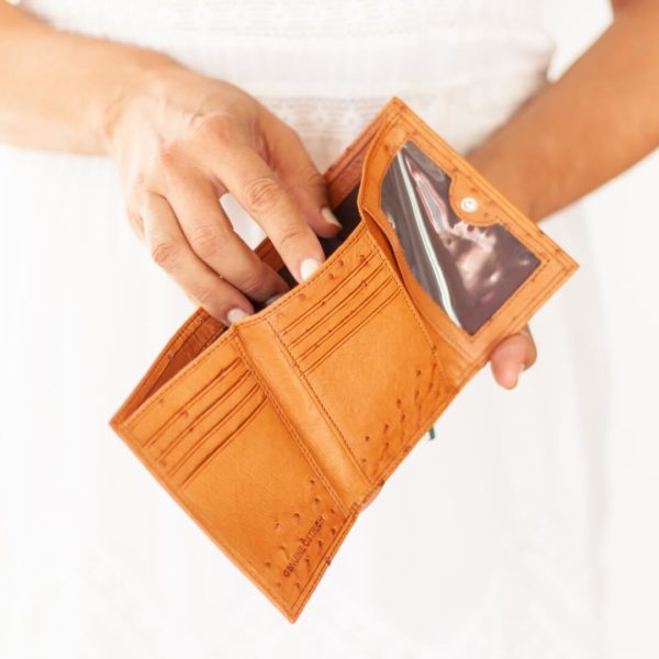 A021.OS - Ostrich Leather Ladies photo wallet
