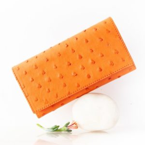 A072.OS - Ostrich Leather tripple ladies small purse