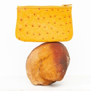 A0780.OS - Ostrich Leather Zip coin purse