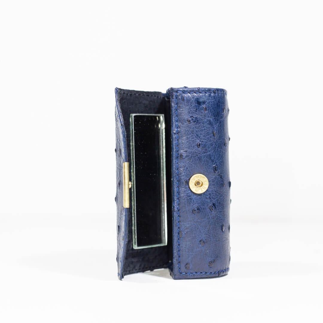 AO1.OS - Ostrich Leather lipstick holder