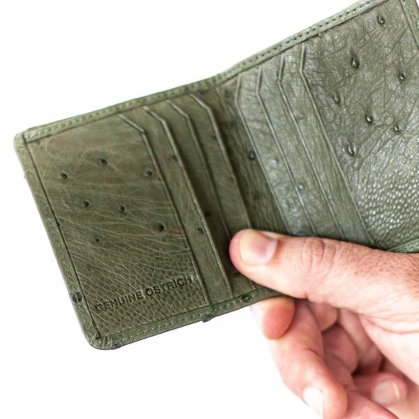 AO13.OS - Ostrich Leather credit card purse