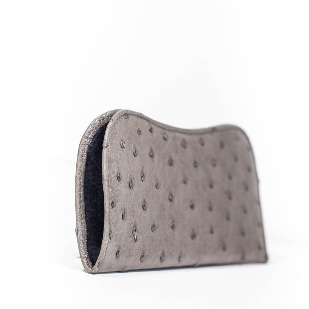 AO15L.OS - Ostrich Leather Spectacle holder