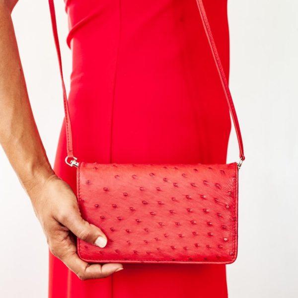 AO322.OS - African Ostrich Leather Ellie Handbag