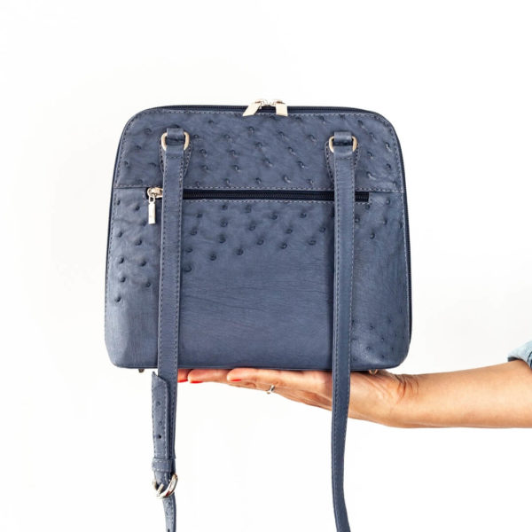 AO348.OS - Ostrich Leather Cara Handbag