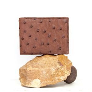 AO6 mens African ostrich leather wallet