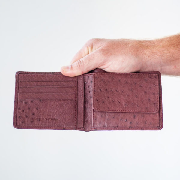 AO7T.OS - Ostrich Leather Mens ID wallet with tab