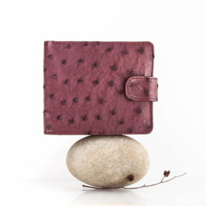 African ostrich leather - Wallet with tab