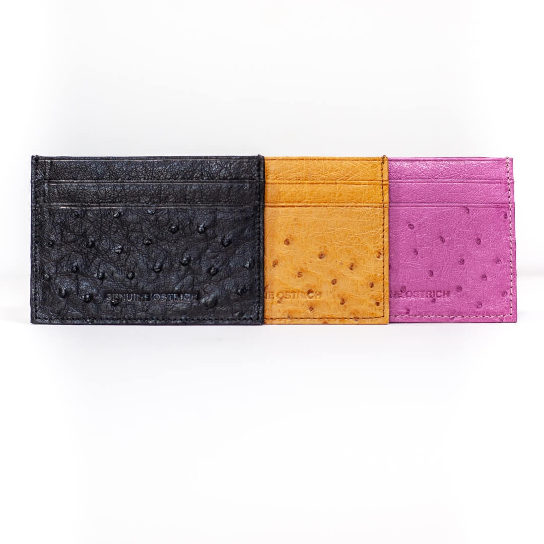 AO81.OS - Ostrich Leather Double credit card wallet