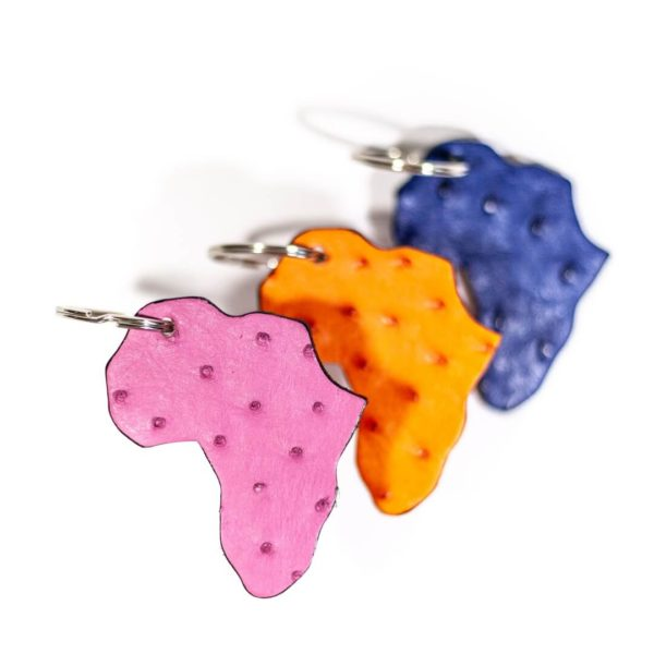 AO8A.OS - Ostrich Leather Africa Keyring